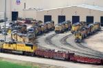 UP Bailey Yard diesel shops