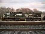NS OLS C40-9W/C44-9W #9253 sit on NS Harrington yard