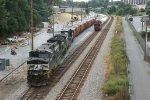 148 - Yard job - ballast train easing south on Amtrak Storage Track.