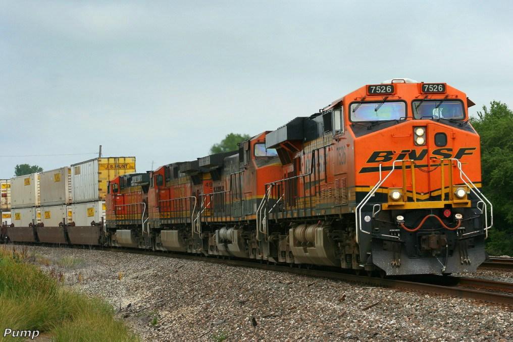 Westbound BNSF Intermodal Train
