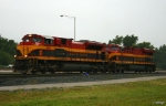KCS Locomotives Being Hostled