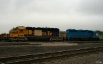 Tied Down BNSF Locomotives at KCS Knoche Yard