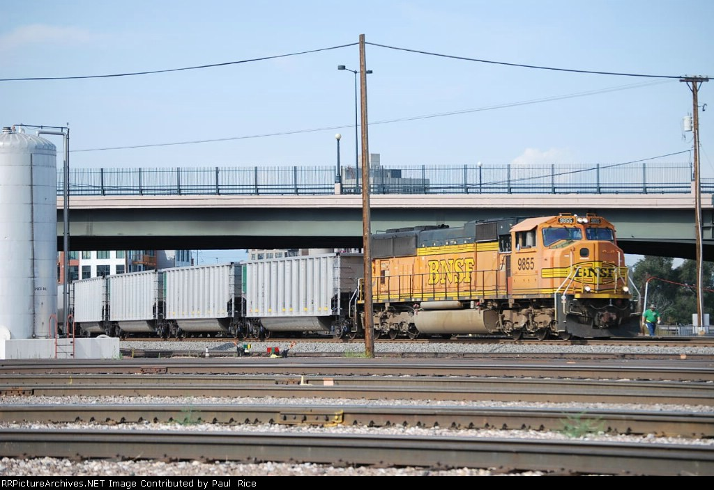 BNSF 9855 I Found This Kinda Odd... One Locomotive On Point With Two Helpers.