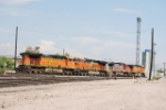BNSF 5468 Takes Point As A String Of Locomotives Move Into The Yard