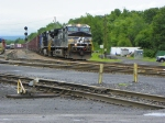 Norfolk Southern 9876 leads the way through the CP Yard