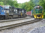 Reading and Northern and Norfolk Southern pass each other in the CP Yard