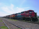 BNSF grain train in Ferromex