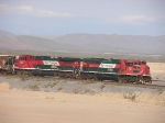 EMD and GE with one mixed train in the desert