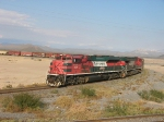 SD70ACe Fxe #4004 with long train in the desert