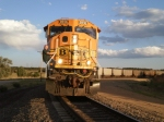 BNSF 8936 with the engineer posing
