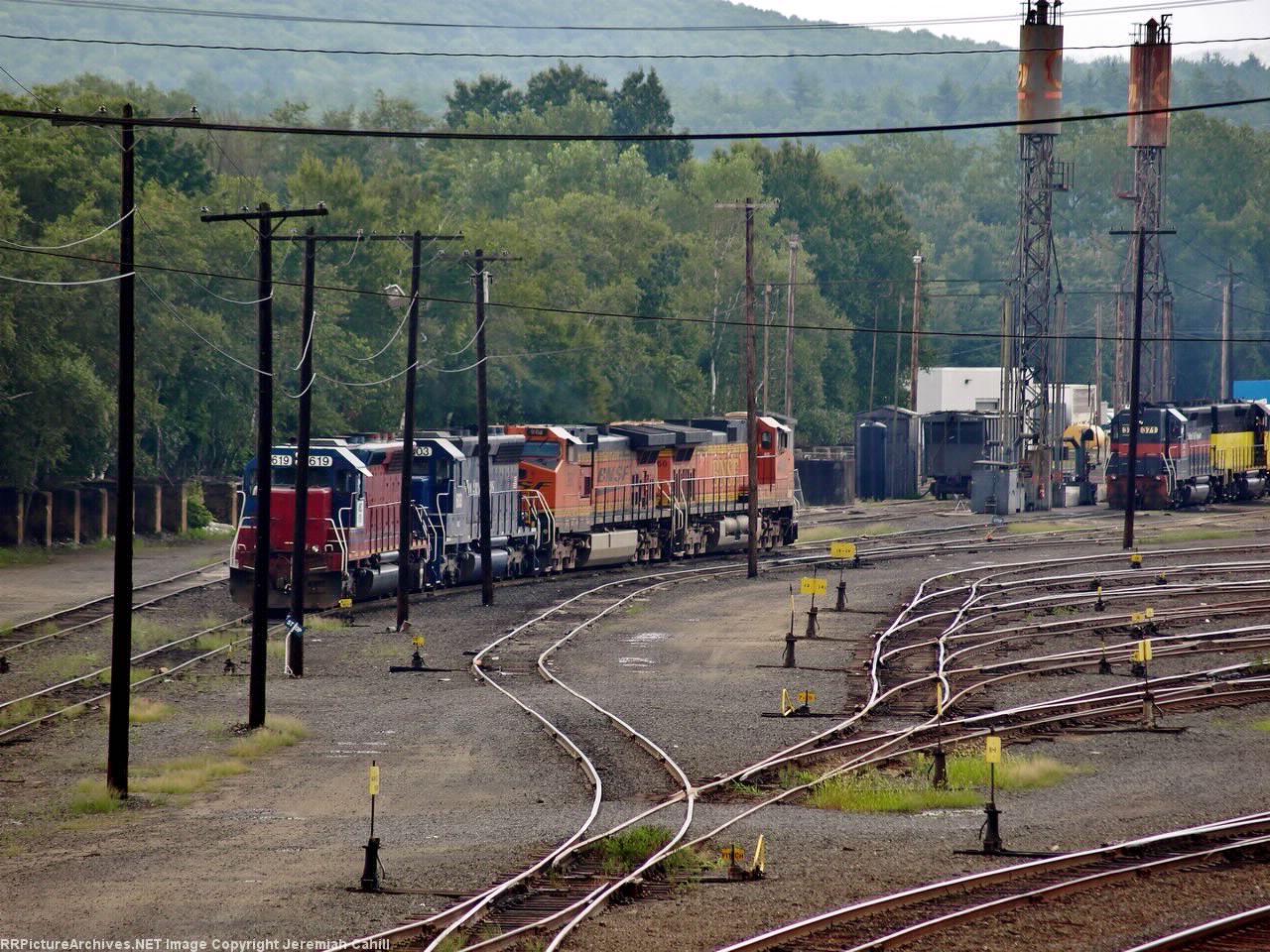 Empty Grain Train Power