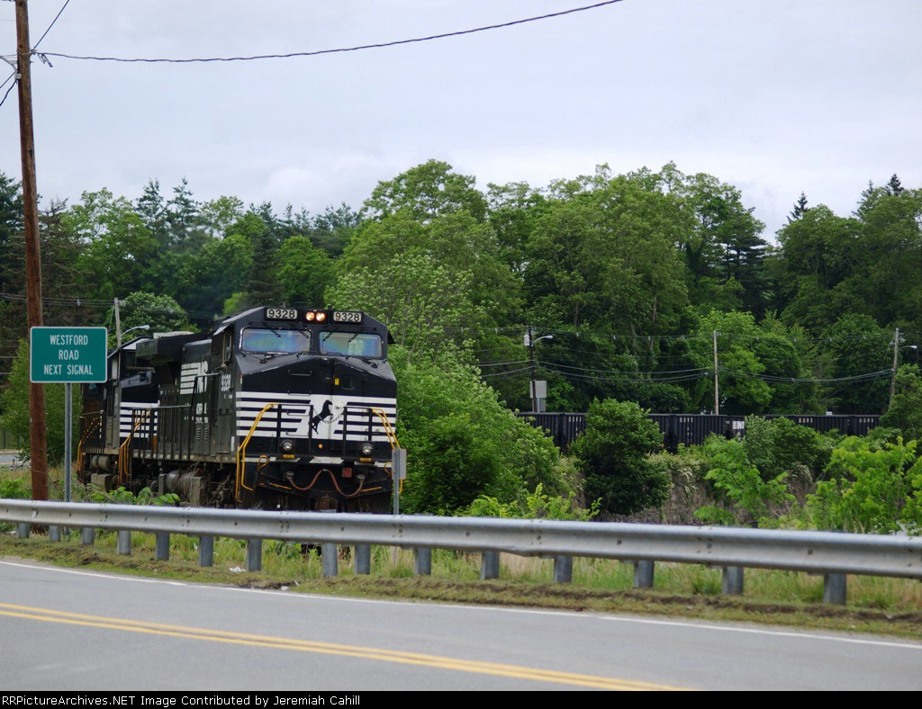 Empty coal train