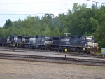 The Empty Coal Train at the West End of East Deerfield Yard