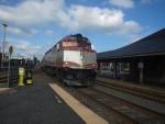 Worcester Bound MBTA Commuter Rail Train