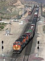 BNSF 4541 heads down