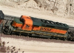 BNSF 7312 from above