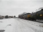 CSX 4818 FIRST SNOW OF THE YEAR