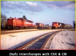 Daily Interchanges with CSX and CN