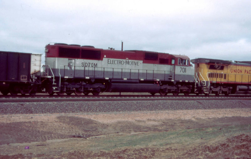 EMD 7011 working the coal fields