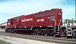 EMD 7023 wore a red scheme