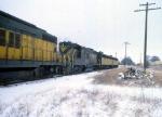 1207-05 Northbound C&NW freight on ex-M&StL