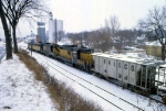 1207-13 Northbound C&NW freight on ex-M&StL