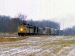1207-15 Northbound C&NW freight on ex-M&StL