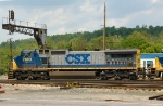 CSX 7883 passes under signals - old cantilever signals were removed August 4, 2008