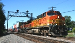 BNSF 4771 leads eastbound stack train.