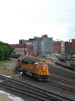 10 motor coal train in KC West Bottoms.