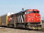 CN Autorack Train Heads Toward Chicago
