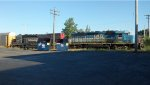 A great morning surprise with the GEXR 432 train waiting in a siding in east Kitchener