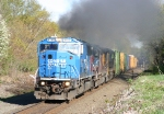 Another shot of the smoking EMD