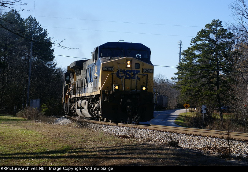 CSX208 over the top at Belmont