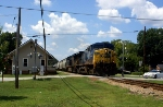 CSXT 42 with local at Pendergrass