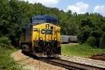 CSX Gainesville-Pendergrass Local rounds Quarry Curve between Candler and Belmont