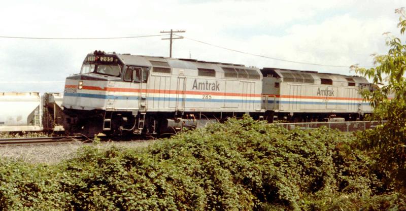Amtrak Train #14 passes