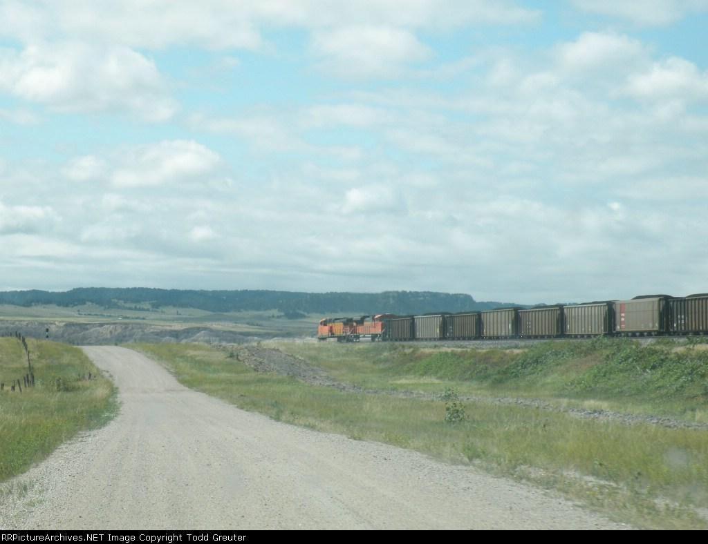 BNSF in the Nebraska Badlands