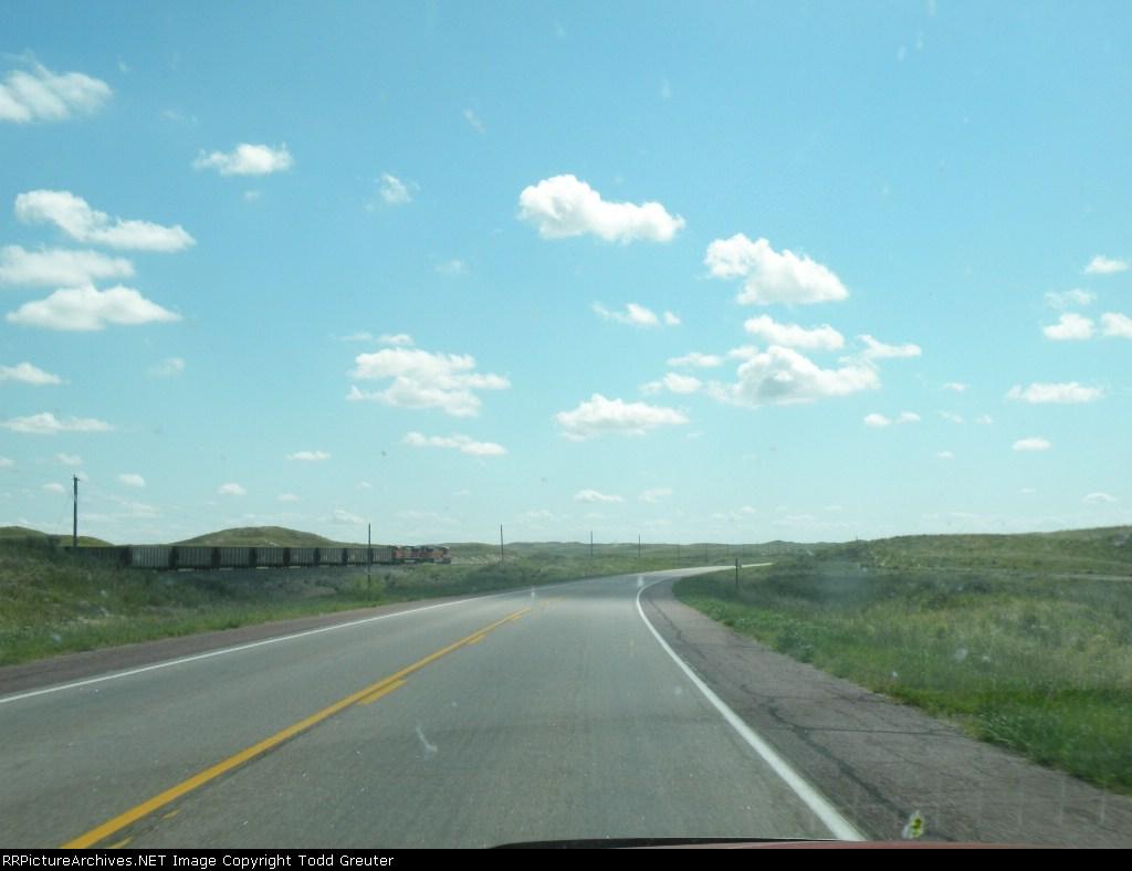 BNSF on the dry Nebraska plains