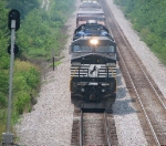 Northbound NS freight