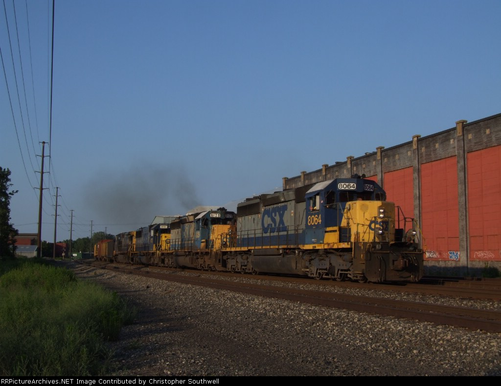 CSX 8064 leads a westbound