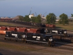 3 high hood GP38's in the harbor yard