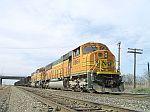 BNSF 8864 leads this coal train