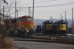 A pair of consecutive BNSF unit's rest at Port Reading Yard, after coming east on the NS 68Q.