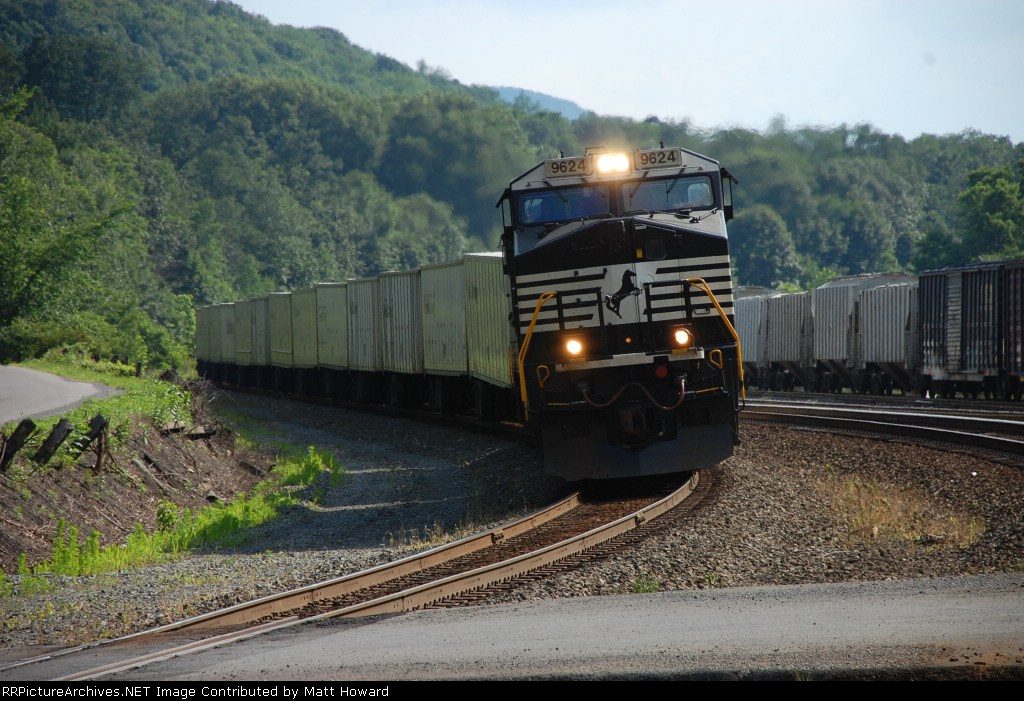 NS 262 is heading east at Tyrone.  The Nittany Bald Eagle interchange is to the right.