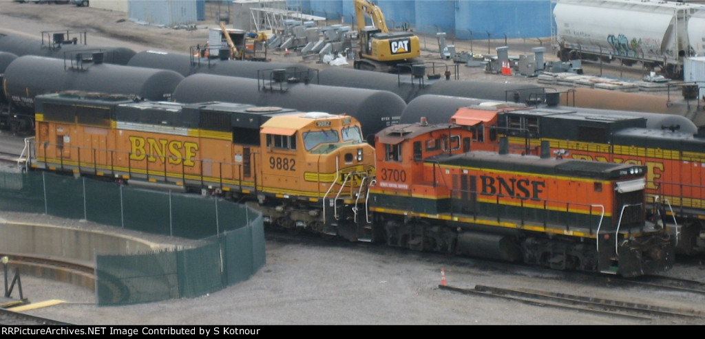 BNSF MP15DC at Northtown yard in Mpls MN in Aug 2012.