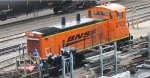 BNSF MP15DC at Northtown in Mpls MN yard in Aug 2012.