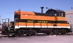 The Alliance Nebraska BNSF shop switcher.  A GN SW1.