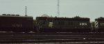 A BN SD9 at Northtown yard in Mpls MN 1985.