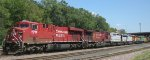 CP Rail with 5 trailing leased units in St Paul MN July 2012
